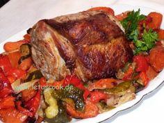 Schweinerücken mit Gemüse  -  ღორის ზურგი ბოსტნეულით
