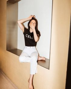 4 Work-From-Home Outfit Ideas From Korean Celebrities To Boost Your Productivity Seulgi, Kpop Fashion, Korean Fashion, Fashion Trends, Joy Instagram, Red Velvet Joy, Park Sooyoung, Velvet Fashion, Home Outfit