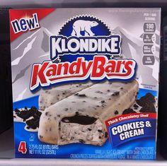 SPOTTED ON SHELVES - Klondike Kandy Bars (Cookies & Cream and Fudge Krunch)