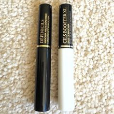 "Lancome Black Definicils Mascara & Cils Booster XL Brand new. Listing is for one deluxe travel size of Lancome Definicils mascara in color black, and Lancome Cils Booster XL lash primer. And as always, and with this purchase as well, you get to pick a free gift from my closet, all clearly marked ""free gift"" Lancome Makeup Mascara"