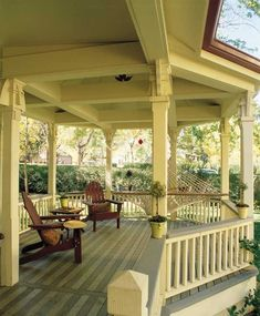 A large front porch provides a perfect place for a solitary nap or large gathering of friends and neighbors.