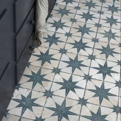 Made from durable ceramic, these tiles have a matt finish with a grid scored into the surface, which you grout into. Samples available for: Scintilla Sapphire Star Blue Patterned Ceramic Floor Tiles Per Sqm. Patterned Floor Tiles, Tiles, Home Improvement, Bathroom Floor Tiles, Stenciled Floor, Tile Stickers Kitchen, Tile Samples, Flooring, Geometric Star