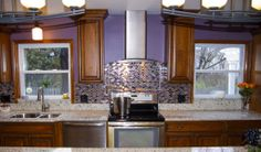 Kitchen remodel in Naperville, IL. Designed by Connie Rabias-Sbarboro with CRS Designs, Inc. in Bolingrook, IL. Fieldstone Cabinetry Reading door style in Cherry finished in Toffee with Chocolate Glaze.
