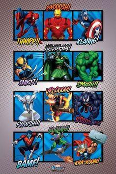 Marvel Heroes (Sound Effects) - plakat o wymiarach 61x91,5 cm  Gdzie kupić? http://www.eplakaty.pl/produkt/Marvel-Heroes-Sound-Effects---plakat
