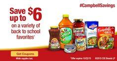 Ahorra dinero con estos nuevos cupones para el regreso a clases. #CampbellSavings #spon