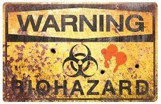 Metal Zombie Biohazard Sign