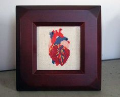 """""""PDF pdf Original Cross Stitch Pattern  Anatomical by bombastitch, $4.00""""  -would be so fun for my mom or my sister"""