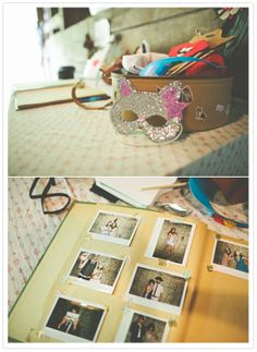photo booth masks and album