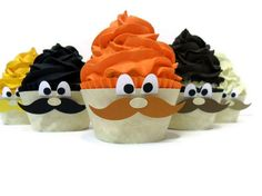 Mustache Cupcake Wrappers - Set of 12. $15.00, via Etsy.