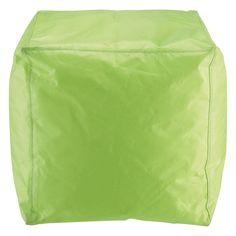 Multicolour green outdoor pouffe