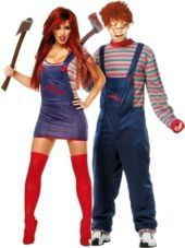 Sexy Chucky and Chucky Couples Costumes-Halloween City