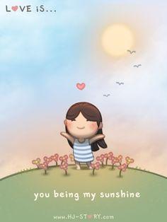Love is.. U being my sunshine ^_^