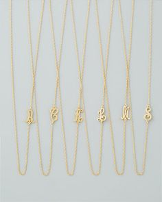 18k Gold Vermeil Mini Initial Necklace by Jennifer Zeuner at Bergdorf Goodman.