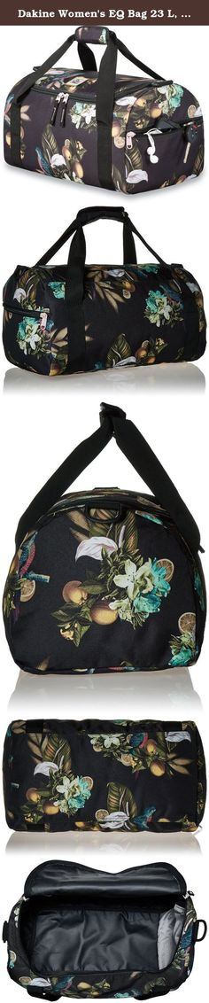 """Dakine Women's EQ Bag 23 L, Hula. Dakine gear bag for day use or traveling. In Hawaiian slang, """"Da Kine"""" means the best and the company has lived up to this standard through attention to detail, focus on accessories, and a notoriously thorough design process."""