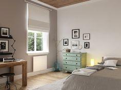 Chambre équipé d'un radiateur connecté Ovation de Thermor #objetconnecte