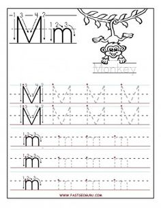 Free Printable letter M tracing worksheets for preschool. Free connect the dots…