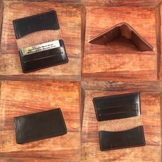 The Elfman micro wallet in black Horween Chromexcel from 922Leather.com #leathercraft #leatherwallet #techsew#horween