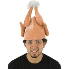 Our Turkey Hat is a headpiece most fowl! Perfect for Thanksgiving, our funny Turkey Hat resembles a cooked turkey, stuffed with foam and fully lined inside. Silly Hats, Crazy Hats, Funny Hats To Make, Thanksgiving Hat, Chicken Hats, Turkey Hat, Turkey Time, People Shopping, Party Stores