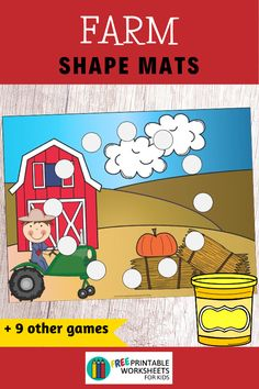 Are you ready for some farm fun? These 10 simple literacy and math centers will have kids clucking with excitement and asking for moo-re! Early Math, Early Learning, Fun Learning, Free Printable Worksheets, Worksheets For Kids, Printables, Rainbow Writing, Upper And Lowercase Letters, Farm Fun