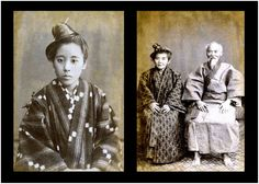 OKINAWA -- YOUNG AND OLD BACK IN THE 1880s (see text) | by Okinawa Soba (Rob) Hitomi Mochizuki, Japanese Outfits, Japanese Clothing, Irezumi, Okinawa Japan, Coming Of Age, Deities, Japanese Art, Southeast Asia