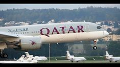 Qatar Airways Airbus A350-941 @ Zurich Airport Okt.2018 Zurich, Music Videos, Aviation, Aircraft, Soundtrack, Moon, Instagram, The Moon, Air Ride