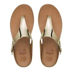 4ac81c8668e FitFlop Gladdie amp Trade  Metallic Imi-Leather Toe-Thong Sandals ( 80)
