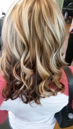 fall hair Trendy hair color highlights and lowlights low lights fall Ideas Wedding Bouquet: It's Medium Hair Styles, Curly Hair Styles, Fall Hair Colors, Trendy Hair Colors, Brown Blonde Hair, Dark Blonde, Medium Blonde, Light Blonde, Medium Brown