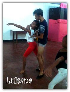 Luisana centeno Con el Instructor Nené Contreras