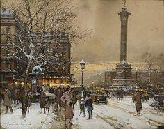 Eugène GALIEN-LALOUE (1854-1941). - La place de la