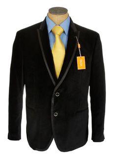 Tallia Black Stripe Slim Fit Sport Coat | Men&39s Wearhouse | Black
