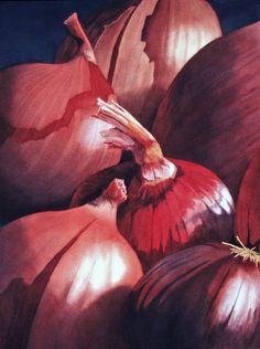Rachael Collins, watercolor. layered skin of onion is related to my project and content