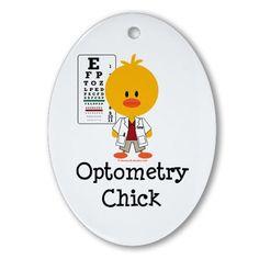Optometry Chick Optometrist Ornament (Oval)