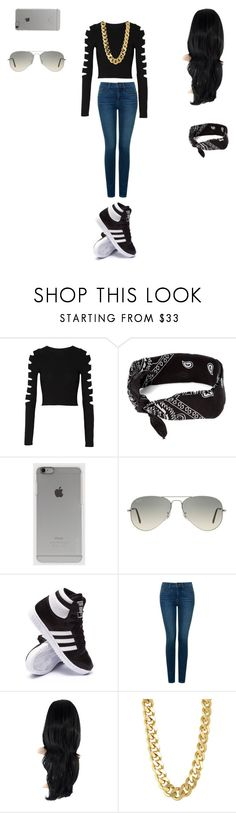 """Ganster"" by ashanasturdivant on Polyvore featuring Cushnie Et Ochs, claire's, Incase, Ray-Ban, adidas, NYDJ and CC SKYE"