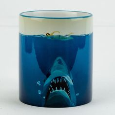 Shark Jaw ceramic mug personalised tea coffee cup by sublizona, $13.00