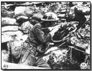 The rifle was the standard issued weapon system at the time, it was much lighter and more maneuverable than that of the machinegun or mortar system.