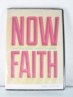 """#Pastor Joel #Osteen #Christian #Ministries """"Now Faith--Expecting Good Things to Happen"""" #audio book #audiobook #CD and #video #DVD #teaching #disc #religious and #spiritual #teaching #devotional #sermon #message #set series, brand new and unused with clear plastic protective shrink-wrap sealed packaging, black clam-shell case and red and yellow paper insert…"""