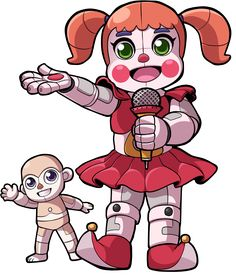 Baby And Bidybab Chibis Full Body by soyfrutillademg