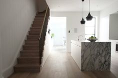 Learn more about the firm William Smalley Architect based in Georgian Terrace, Victorian Terrace, Home Interior Design, Modern Interior, Central Kitchen, Kitchen Images, House Stairs, Architect House, France