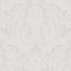 """Norwall Wallcoverings Inc Vintage Damask 32.7' x 20.5"""" Paisley with Linen Wallpaper & Reviews 