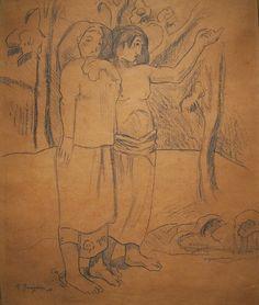 El Llamado, by Paul Gauguin Paul Gauguin, Gauguin Tahiti, Impressionist Artists, French Artists, Impressionism, Great Artists, Modern Art, Pop Art, Art Gallery
