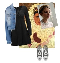 """art presentation"" by nina-ci on Polyvore featuring Converse, A.P.C. and 7 For All Mankind"