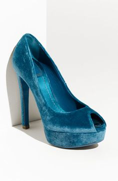 Why don't I own blue velvet shoes?  They are so practical and could go with many outfits.