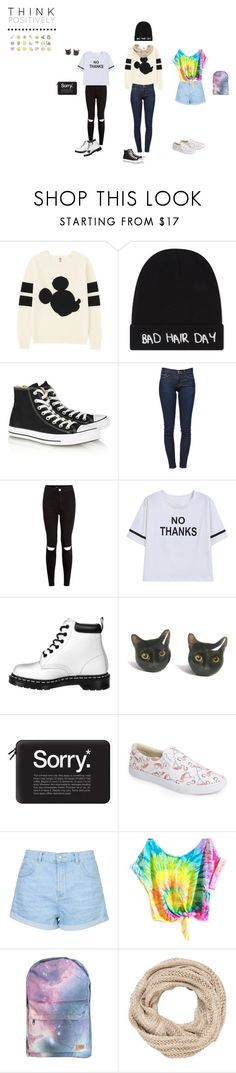 """""""swag & tumblr"""" by itstepna ❤ liked on Polyvore featuring Uniqlo, Local Heroes, Converse, Frame, New Look, Dr. Martens, Casetify, BucketFeet, Topshop and maurices"""