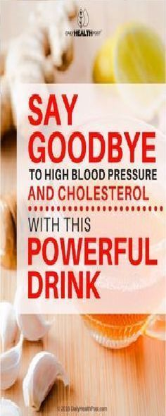 Say Goodbye to High Blood Pressure and Cholesterol!
