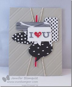 Wonderful Word Bubbles for a I Love You Card   Northwest Stamper