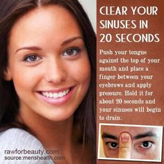 Sinus relief // I just tried it and it helped! Whaaaat?