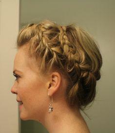 crown braid...non-woven ends