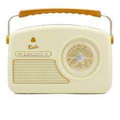 GPO Retro Rydell Portable DAB Radio - Cream: Image 1