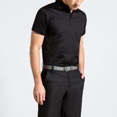 37a6ce4b Merlin Mercerised Polo, Black. by Calm Collected Crew Clothing, Polo Shirts,  Luxury