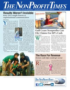 The March 1 issue of The NonProfit Times is now online!